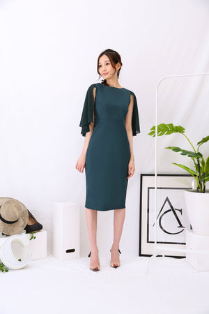 Fitted Dress 2954 Green / S Dresses
