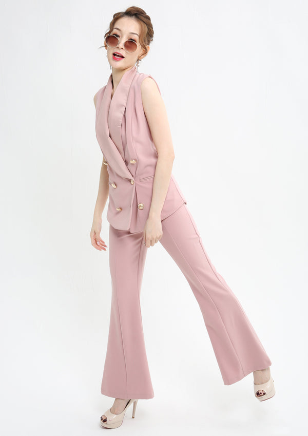 Button Up Suit With Pant Set 1008