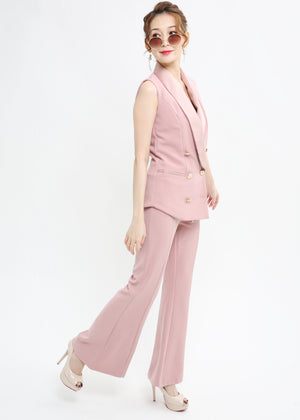 Button Up Suit With Pant Set 1008 - Ample Couture