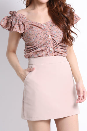 Printed Top With Skirt Set 9573