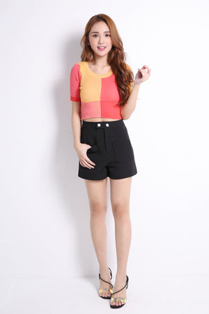 Contrast Color Knit Top 9530A