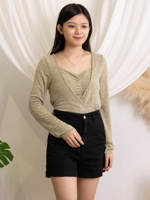 Knit Outer With Knit Strap Top Set 11560