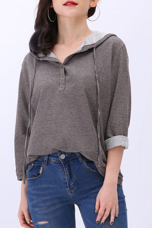 Stripe Hoodie 3065 - ample-couture