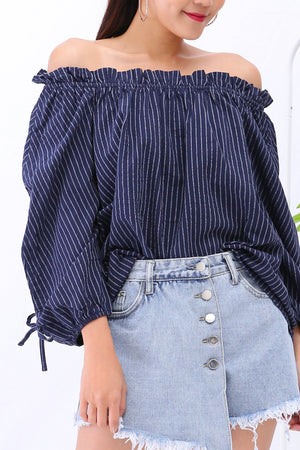 Stripe Blouse 3072 - ample-couture