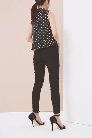 Polka Dot Top 3947 Tops