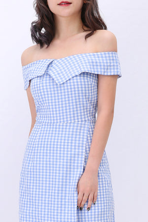 Gingham Check Jumpsuit 3166 - ample-couture