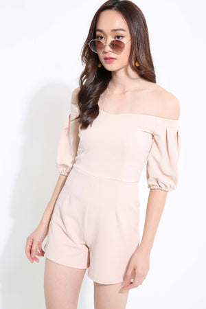 Off Shoulder Plain Playsuit 1158 - Ample Couture