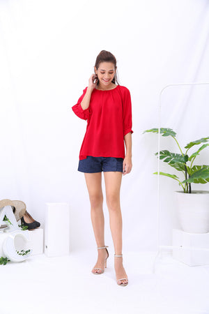 Plain Top 3206 - ample-couture