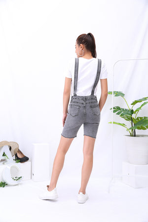 Denim Suspender Pants 3227 - ample-couture