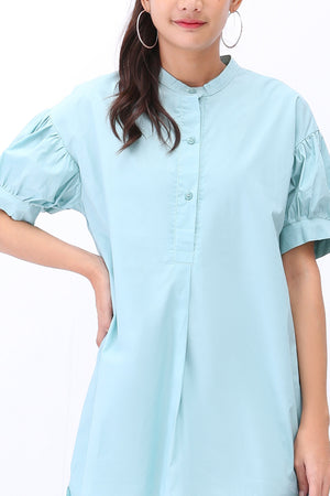 Button Up Shirt Dress 3237