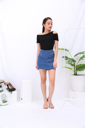 Denim Skirt Pants 3282