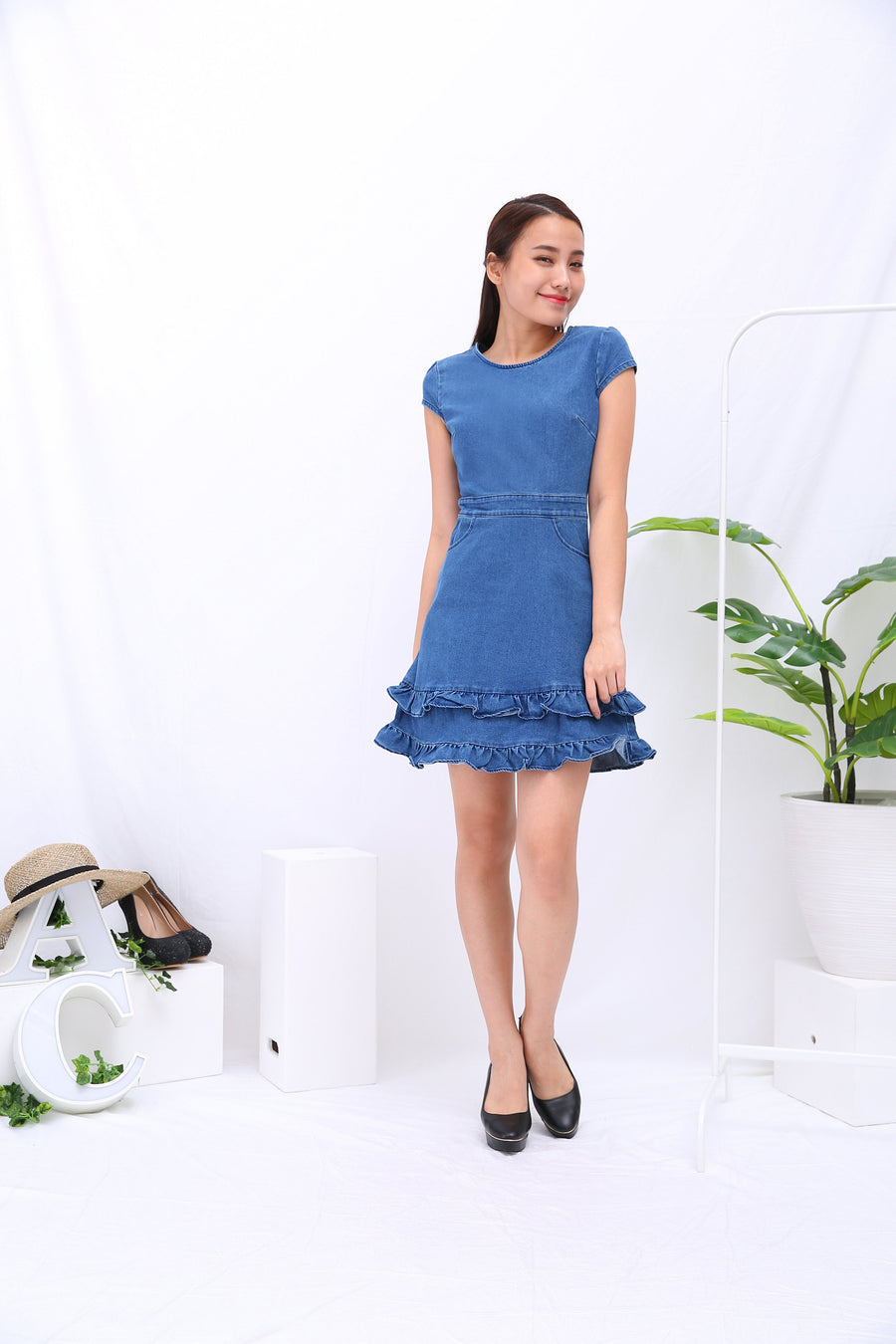 Denim Dress 3284