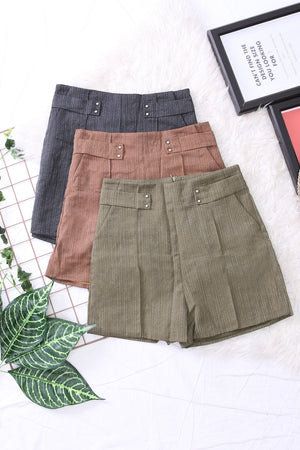 High Waist Shorts Pants 3322 - ample-couture
