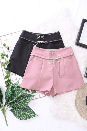 Lace Up Shorts 3323