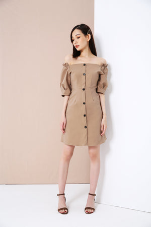 Button Up Dress 3343 - ample-couture