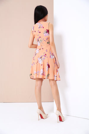 Floral Print Dress 3404 - ample-couture