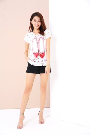 Graphic Print Tee 3416 - ample-couture