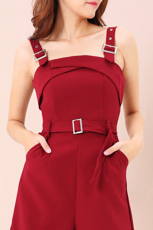 Buckle Detail Jumpsuit 3422 - ample-couture