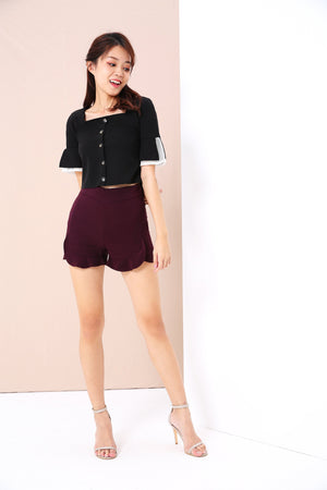 Scallop Trim Shorts 3448 - ample-couture