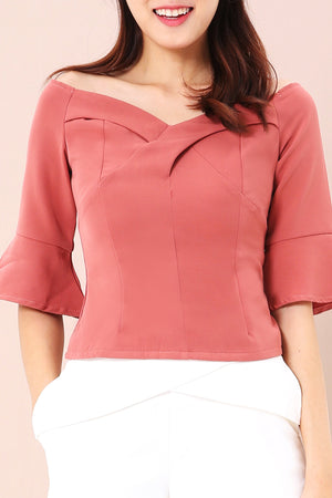 Off Shoulder Top 3456 - ample-couture