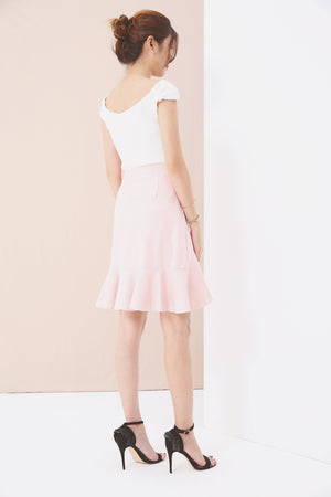 Asymmetric Ruffled Skirt 3562 - ample-couture