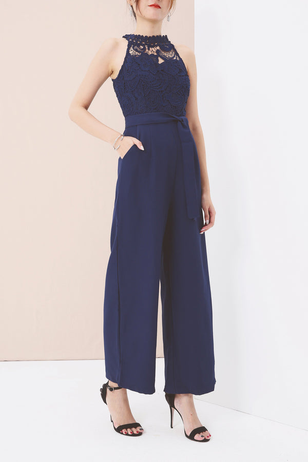 Cut-In Neckline Jumpsuit 3580 - ample-couture
