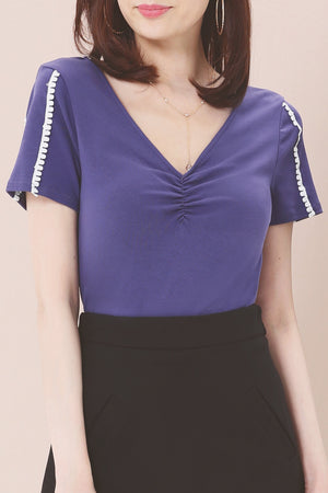V-Neck Top 3603 - ample-couture