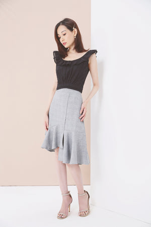 Tiered Midi Skirt 3604 - ample-couture