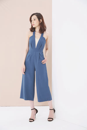 Halter Long Jumpsuit 3631 - ample-couture
