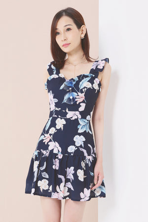Floral Print Dress 3632 - ample-couture
