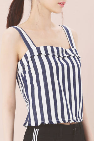 Stripe Print Top 3644 - ample-couture