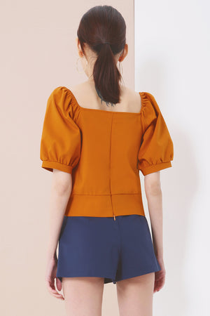 Puff Sleeves Top 3732 - ample-couture