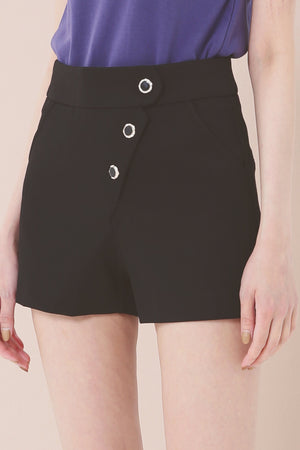 Button Shorts 3788 - ample-couture