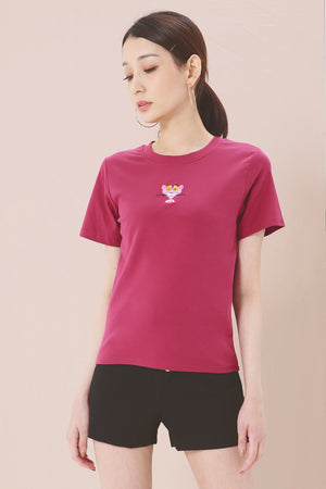 Graphic Print Tee (Pink Panter) 3771 - ample-couture