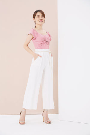 Linen Wide Leg Pants 3822 - ample-couture