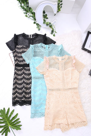 Crochet Romper 3792 - ample-couture