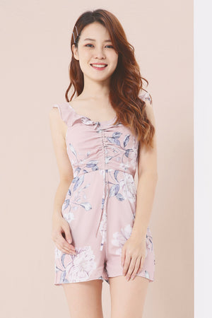 Floral Printed Romper 3860 - ample-couture