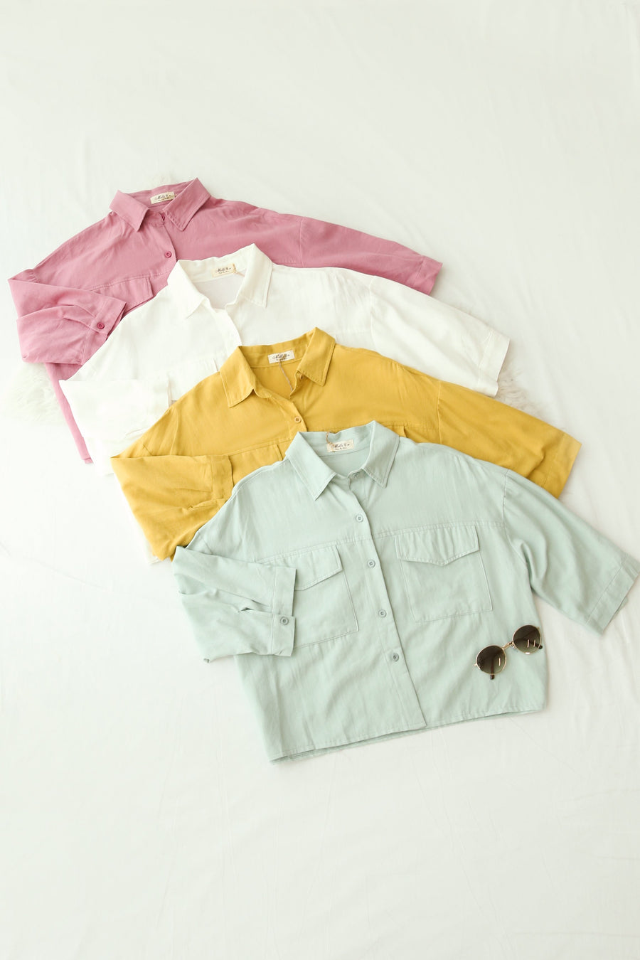 Linen Button Down Shirt 4272 - ample-couture