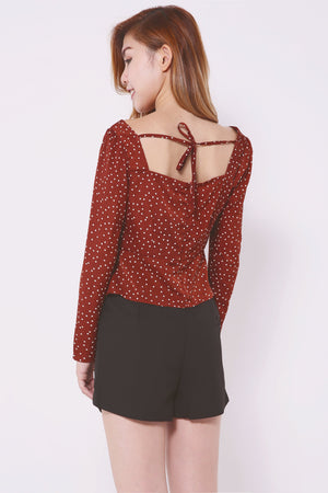 Asymmetric Polka Dot Top 4452 - ample-couture