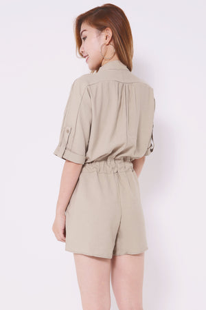 Pocket Front Romper 4469 - ample-couture