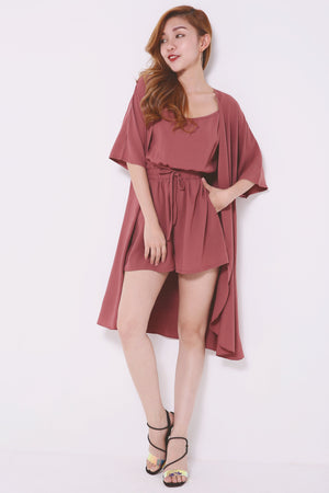 Basic Romper with Cardigan Set 4498 - ample-couture