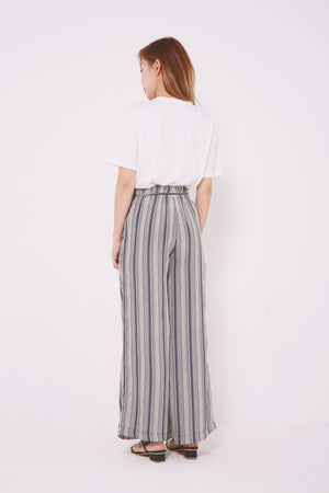 Striped Wide Leg Pants 4611 - ample-couture