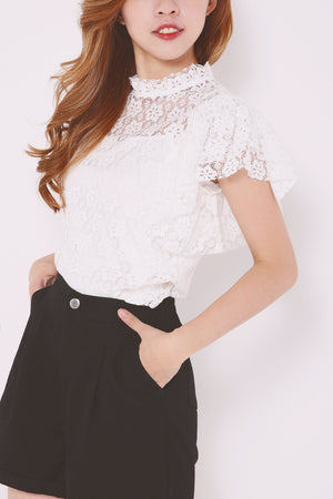 Eyelet Detailed Top 4640 - ample-couture