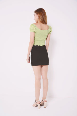 Buckle Belted Skirt Pants 4644 - ample-couture