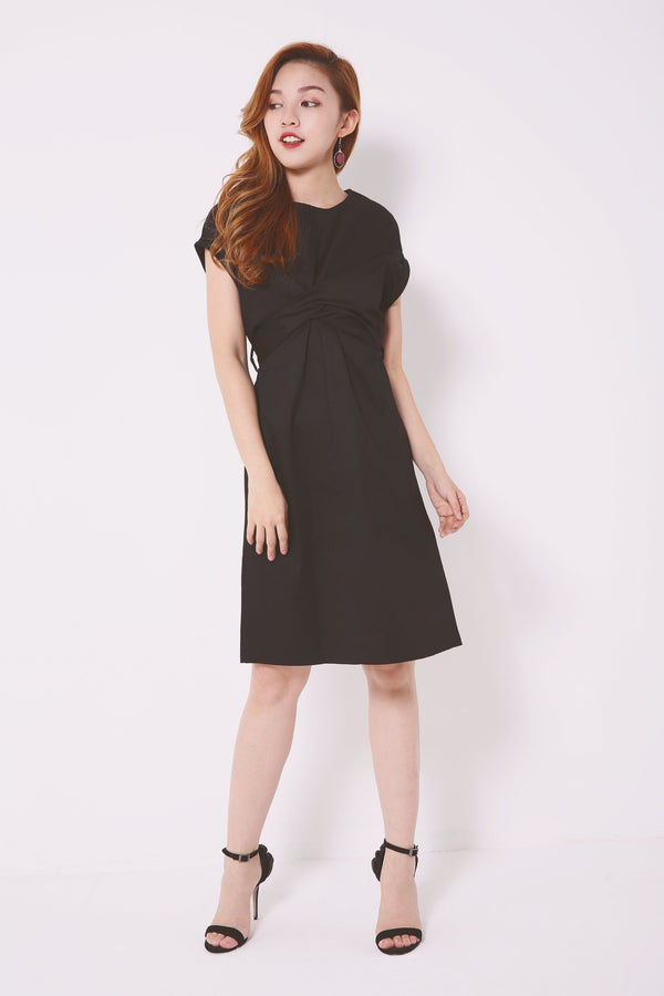 Self-Tie Rolled Hem Dress 4659 - ample-couture