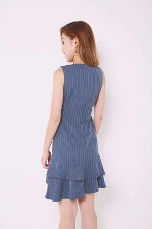 Stripe Layered Dress 4681 - ample-couture