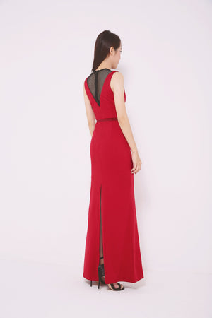 Illusion Maxi Dress 4710 - ample-couture