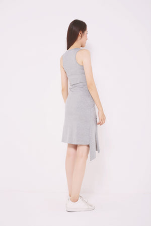 Asymmetrical Ruched Dress 4722 - ample-couture