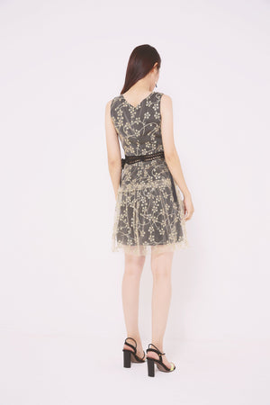 Sheer Mesh Lace Dress 4730 - ample-couture