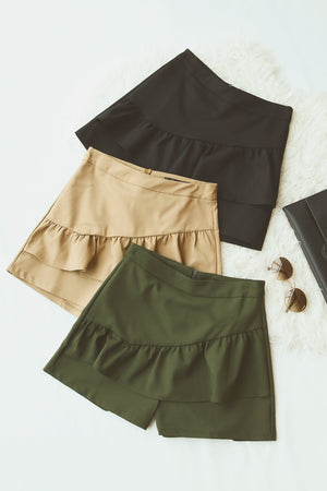 Ruched Layer Shorts 4768 - ample-couture